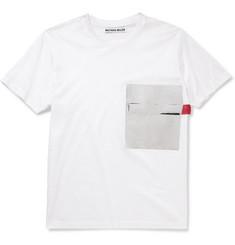 London Collections. Men Matthew Miller Foil-Pocket Cotton-Jersey T-Shirt