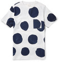 Saturdays Surf NYC Randall Big Dots Printed Cotton-Jersey T-Shirt