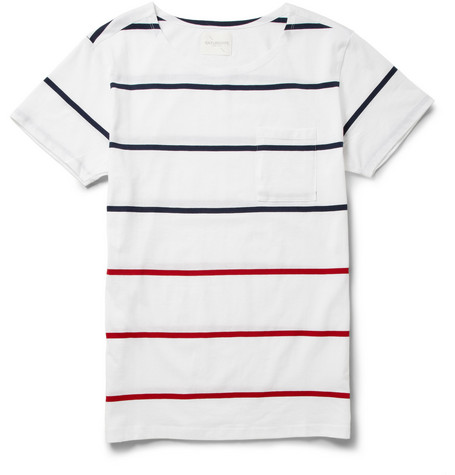 Saturdays Surf NYC Collett Striped Cotton-Jersey T-Shirt
