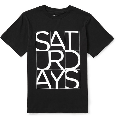 Saturdays Surf NYC Cropped Printed Cotton-Jersey T-Shirt