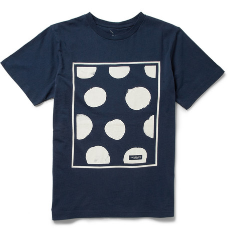 Saturdays Surf NYC Polka Dot Cotton-Jersey T-Shirt
