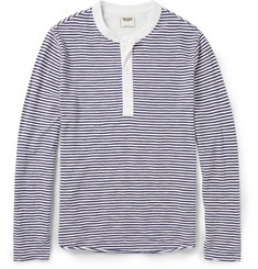 Todd Snyder Striped Cotton-Jersey Henley T-Shirt