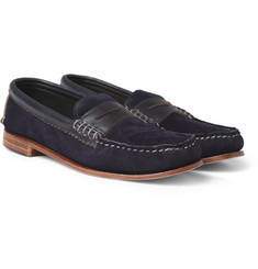 Quoddy True Penny Suede and Leather Loafers