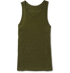 The Elder Statesman Fine-Knit Cotton and Cashmere-Blend Vest