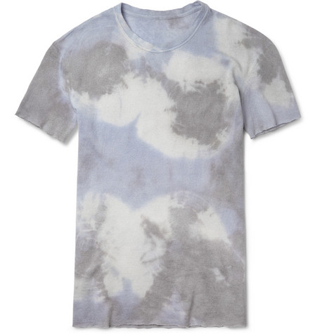 The Elder Statesman Hand-Dyed Cashmere and Linen-Blend T-Shirt
