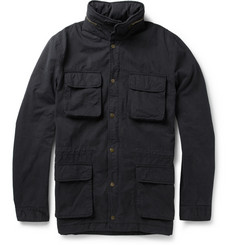Ami Brushed Cotton-Gabardine Field Jacket