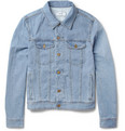 AMI - Slim-Fit Lightweight Washed-Denim Jacket