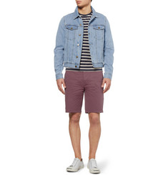Ami Slim-Fit Lightweight Washed-Denim Jacket