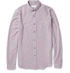 AMI Gingham Check Cotton and Wool-Blend Shirt