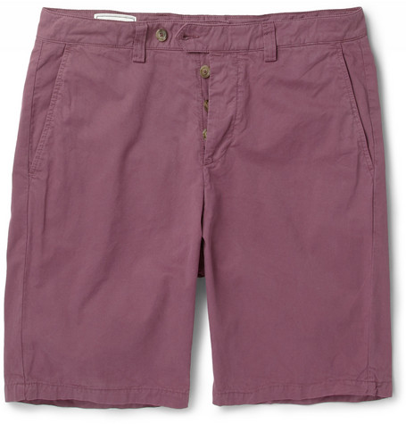 AMI Straight-Leg Brushed-Cotton Shorts