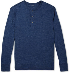 J.Crew Slim-Fit Slub Jersey Henley Top