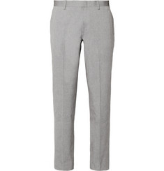 J.Crew Blue and White Ludlow Slim-Fit Cotton-Oxford Suit Trousers