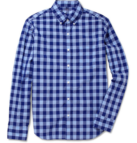 J.Crew Gingham Check Lightweight Cotton Shirt