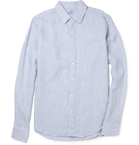 J.Crew Slim-Fit Striped Linen Shirt
