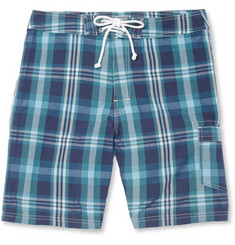 J.Crew Check Cotton-Blend Swim Shorts