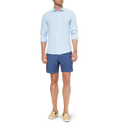 J.Crew Dot-Print Mid-Length Swim Shorts