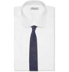 J.Crew Micro-Striped Cotton Tie