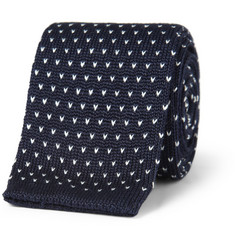 J.Crew Flecked Knitted Cotton Tie