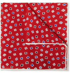 J.Crew Floral-Print Cotton Pocket Square