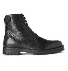 Belstaff Barrington Textured-Leather Boots