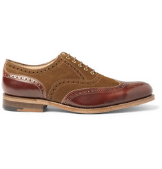 Grenson G-Lab Dylan Suede and Leather Wingtip Brogues