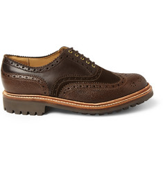 Grenson Stanley Leather and Suede Wingtip Brogues