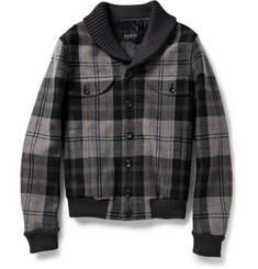 Gucci Plaid Wool Bomber Jacket