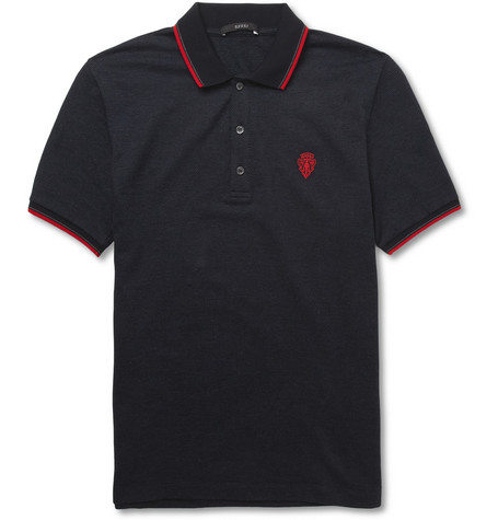 Gucci Knitted Cotton and Cashmere-Blend Polo Shirt