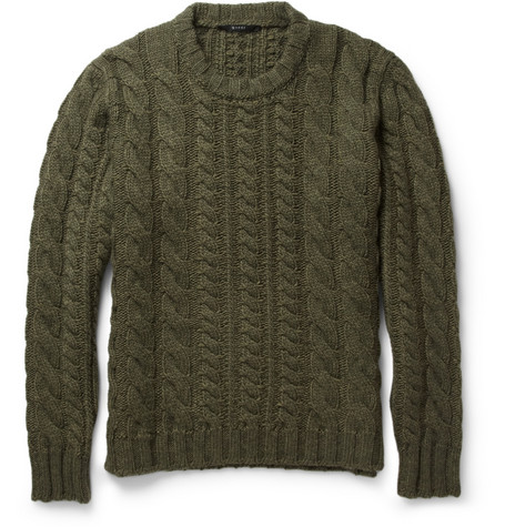 Gucci Cable-Knit Wool-Blend Sweater