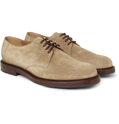 Gucci Ragona Suede Derby Shoes