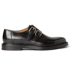 Gucci Leather Monk-Strap Shoes