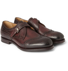 Gucci Leather Monk-Strap Brogues