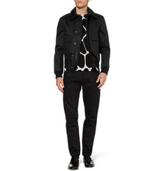 Burberry Prorsum Studded-Collar Cotton Bomber Jacket