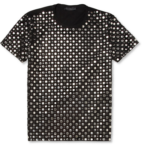 Burberry Prorsum Studded Cotton T-Shirt