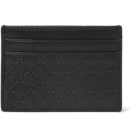 Gucci Embossed Leather Card Holder and Money Clip