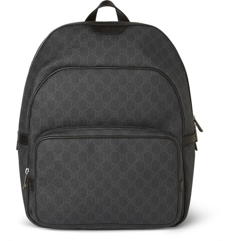Gucci Printed Leather-Trimmed Backpack