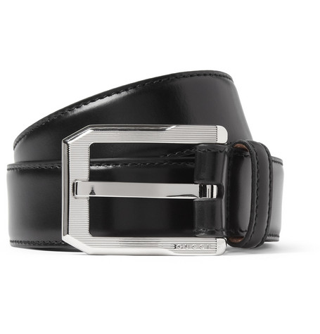 Gucci High-Shine Leather Belt