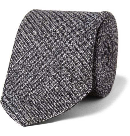 Gucci Prince Of Wales Check Wool and Silk-Blend Tie