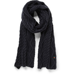 Gucci Cable-Knit Wool Scarf