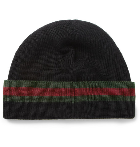 Gucci Wool and Silk-Blend Beanie Hat