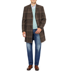 Etro Check Wool-Blend Overcoat