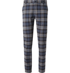 Etro Regular-Fit Plaid Cotton-Blend Flannel Trousers