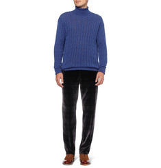 Etro Relaxed-Fit Check Velvet Trousers