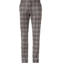 Etro Plaid Wool and Silk-Blend Trousers