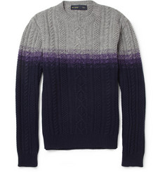 Etro Cable-Knit Wool and Cashmere-Blend Sweater