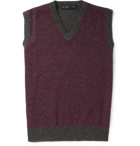 Etro Knitted Wool and Cashmere-Blend Vest
