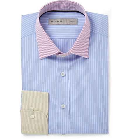 Etro Contrast-Collar Cotton Shirt
