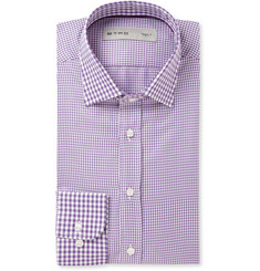 Etro Slim-Fit Contrast-Pattern Woven-Cotton Shirt