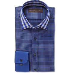 Etro Slim-Fit Check Woven-Cotton Shirt