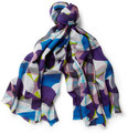Etro Printed Woven-Wool Scarf